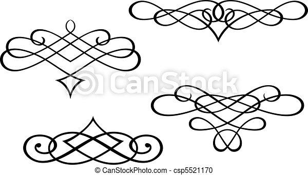 Monogramme und Wirbelelemente - csp5521170