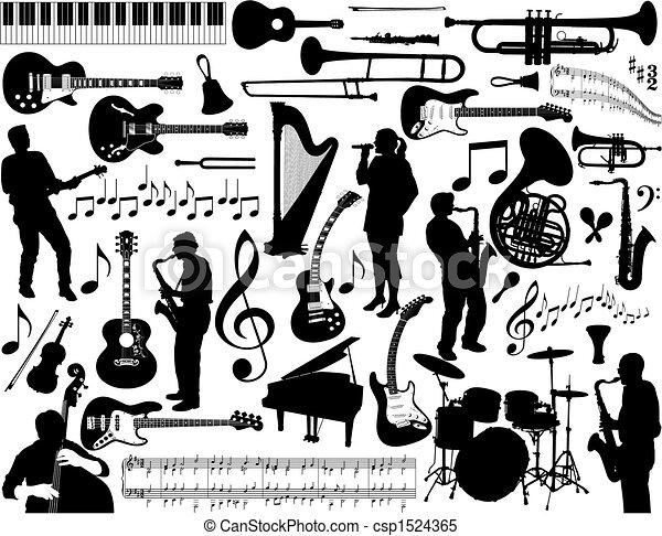 musik, elements. - csp1524365