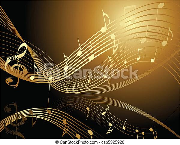Hintergrund mit Musiknotizen - csp5325920