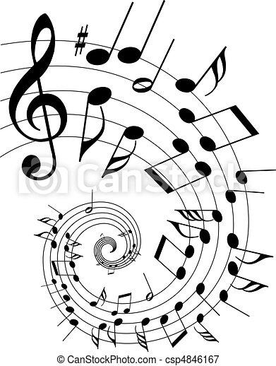 Musik-Thema - csp4846167