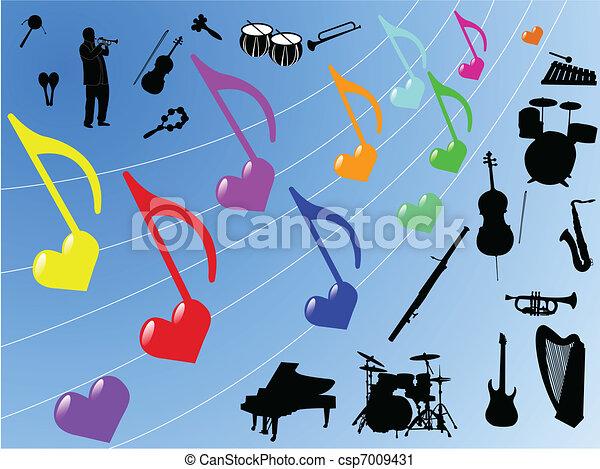 Musikelemente. - csp7009431