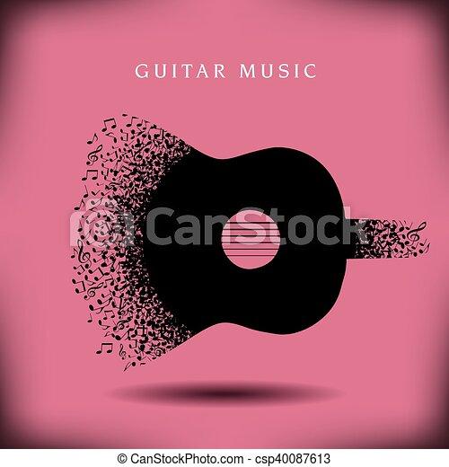 Musikgitarre. - csp40087613