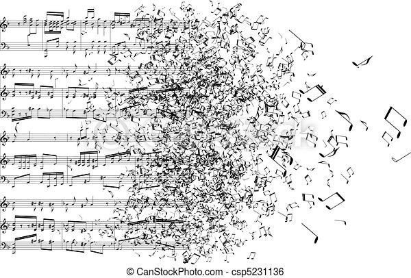 Musiknotizen tanzen weg - csp5231136