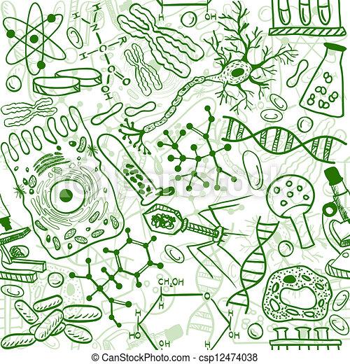 Biologie nahtlos - csp12474038