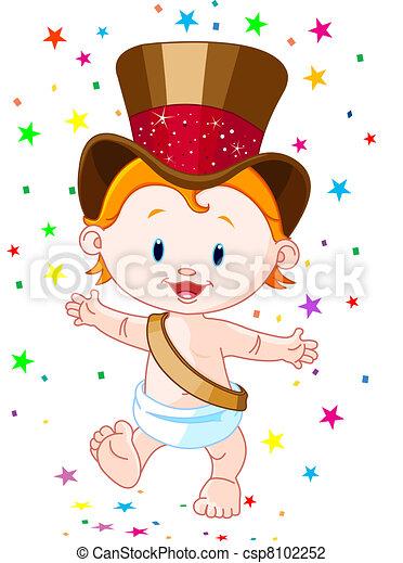 Neues Jahr, Baby - csp8102252