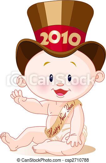 Neujahr 2010 - csp2710788