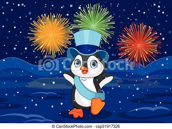 Neujahr Pinguin. - csp31917326