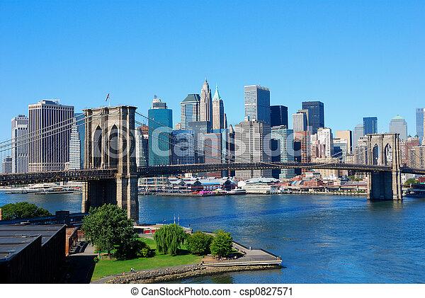 New York City Skyline - csp0827571