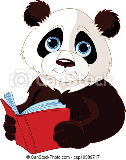 Panda liest ein Buch - csp10389717