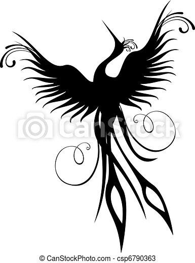 Phoenix Vogelfigur isoliert - csp6790363