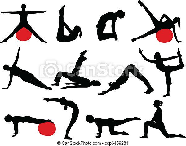 Pilates Silhouette - csp6459281