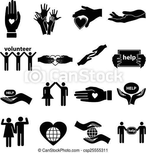 portion, freiwilliger, satz, heiligenbilder - csp25555311