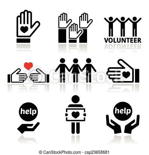 portion, leute, freiwilliger, heiligenbilder - csp23658681