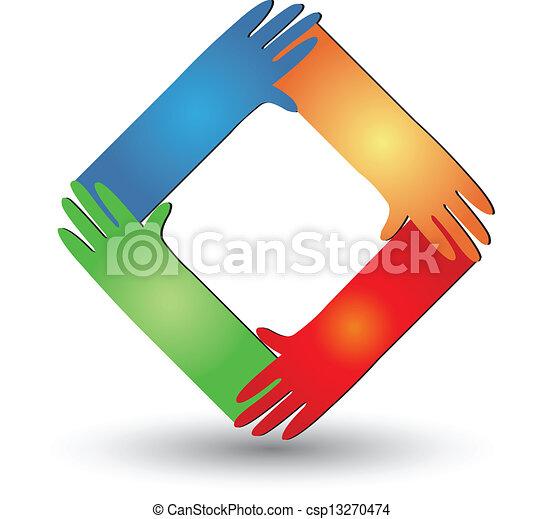 Hände helfen Logovektor - csp13270474