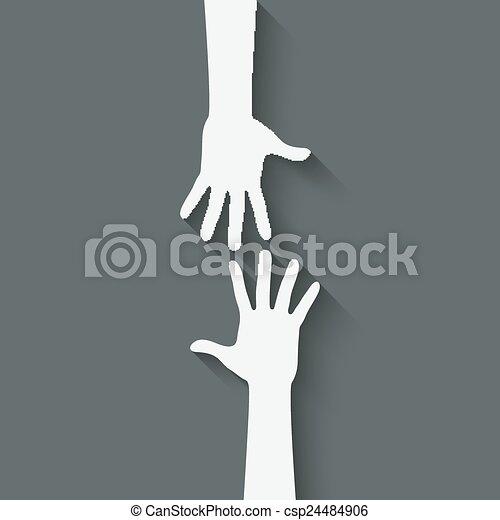 Handzeichen helfen - csp24484906
