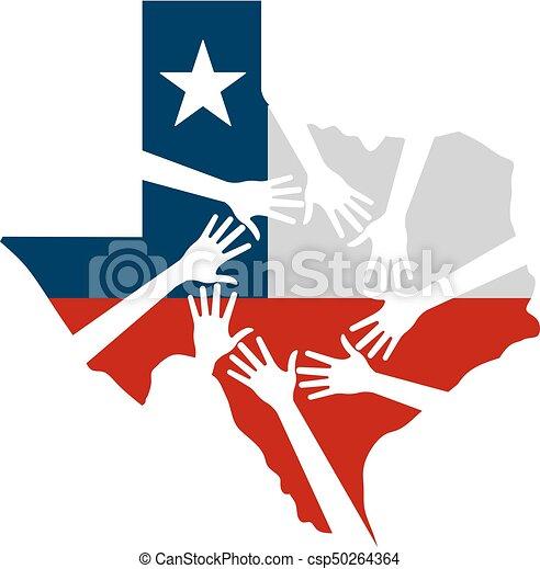 Hände helfen texas vektorgrafik - csp50264364