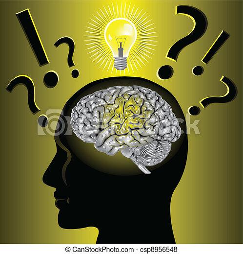 problem, gehirn, lösen, idee - csp8956548
