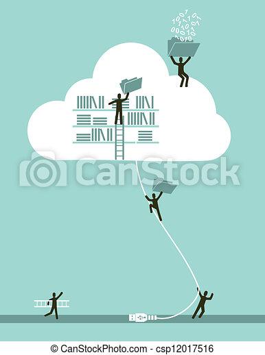 rechnen, wolke, begriff, geschaeftswelt - csp12017516