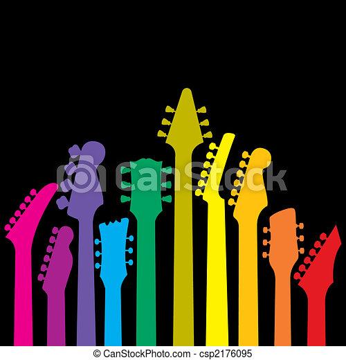 regenbogen, gitarren - csp2176095