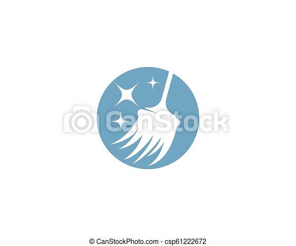 reiniger, logo, haus - csp61222672