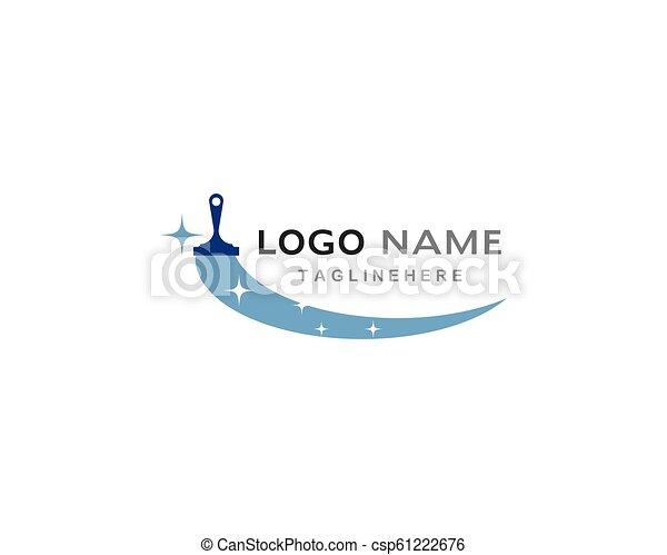 reiniger, logo, haus - csp61222676