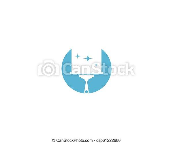 reiniger, logo, haus - csp61222680