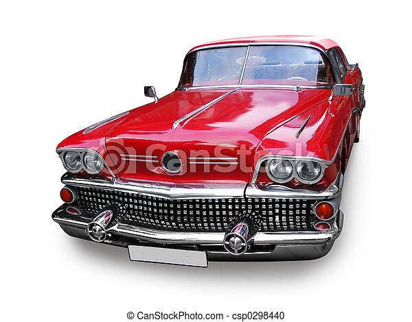 Retro-Auto - amerikanisch - csp0298440