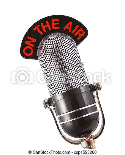 Retro Mikrofon - csp1593260