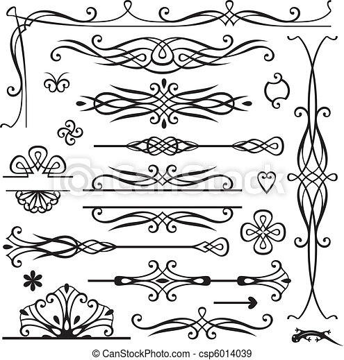 Retro-Seite-Dekoration - csp6014039
