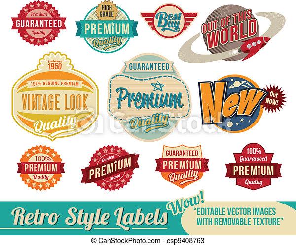 Retrolabel und Etiketten - csp9408763