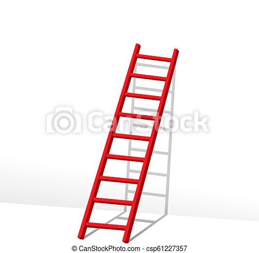 Rote Leiter. - csp61227357