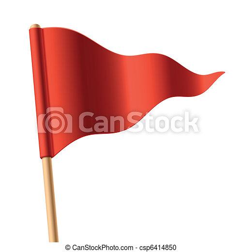 Rote Triangular-Flagge - csp6414850