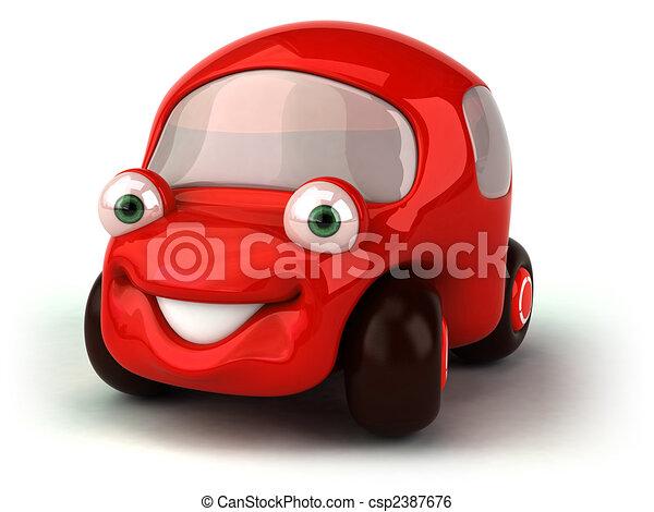 Rotes Auto - csp2387676