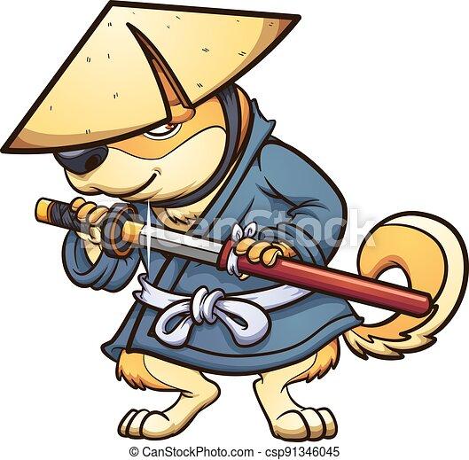 samurai, hund - csp91346045