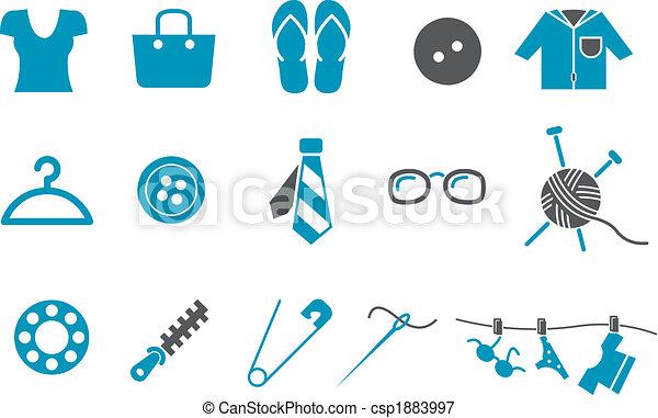 satz, ikone, kleidung - csp1883997