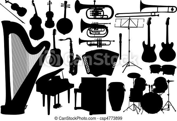 satz, instrument musik - csp4773899