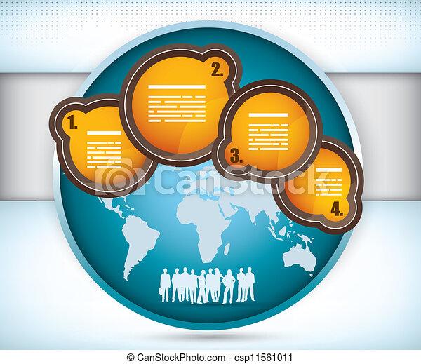 Schicke Firmenkarte mit Raum für Text - csp11561011
