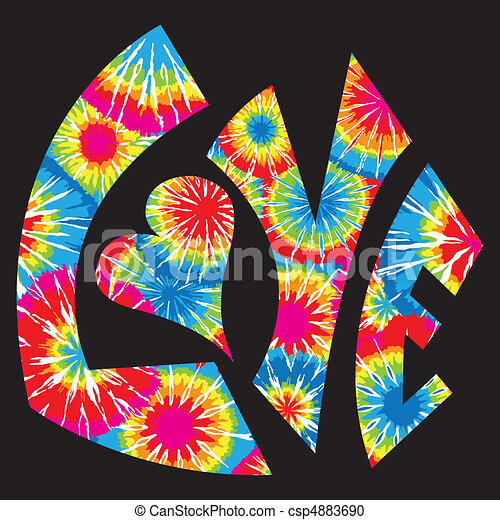 Tie gefärbtes Liebessymbol - csp4883690
