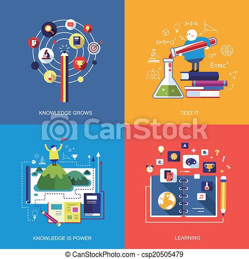 Set von flat design concept icons - csp20505479