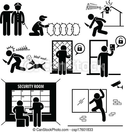 Sicherheitssystem. - csp17601833