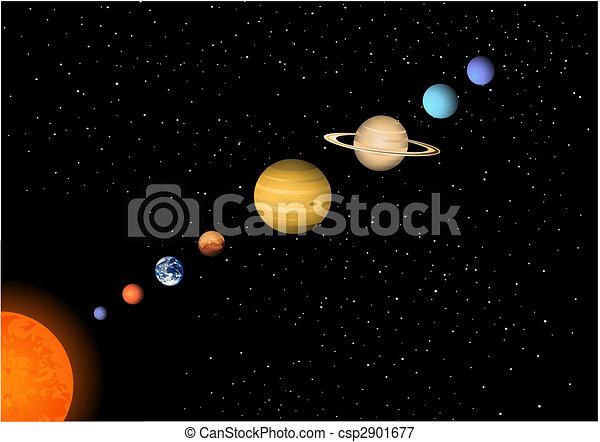 Sonnensystem - csp2901677