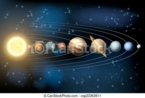 Sonnensystem. - csp23363911