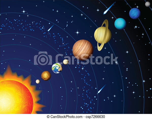Sonnensystem - csp7266630