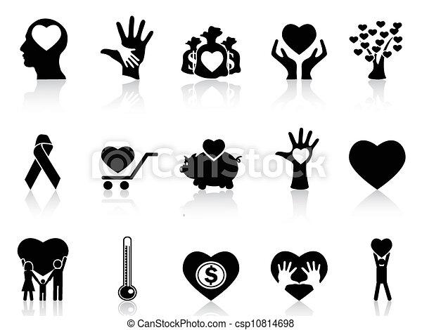 spende, wohltätigkeit, schwarz, heiligenbilder - csp10814698