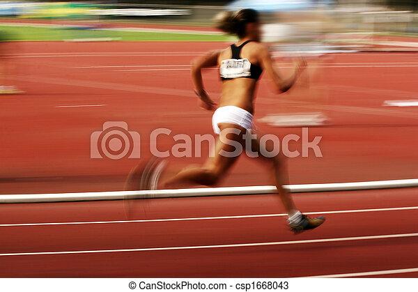 Sportler laufen - csp1668043