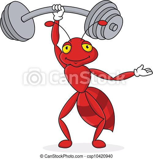 Starke rote Zeichentrickfigur - csp10420940