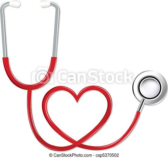 Stethoskop in Herzform. - csp5370502