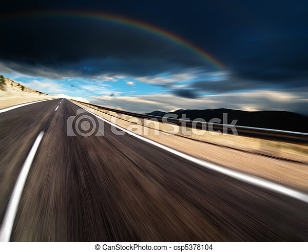Straße mit Bewegungsmist - csp5378104