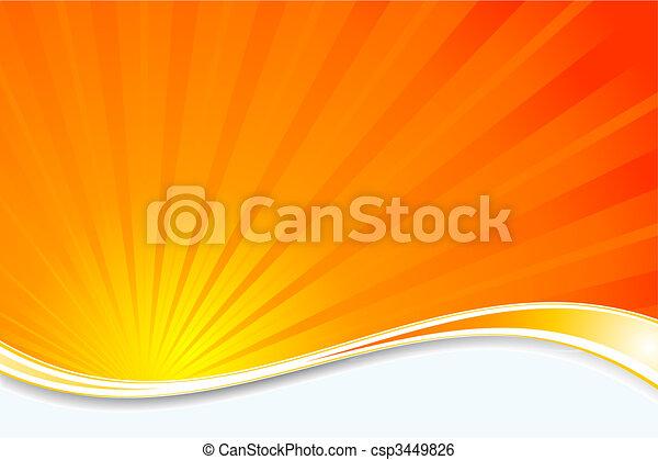 sunburst, hintergrund - csp3449826