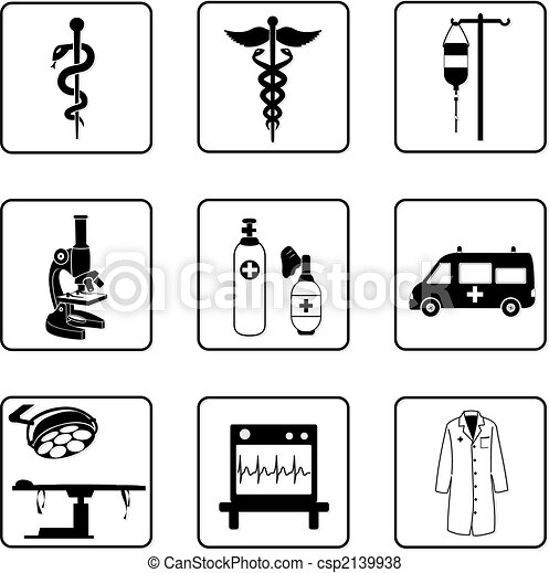 Medizinische Symbole - csp2139938